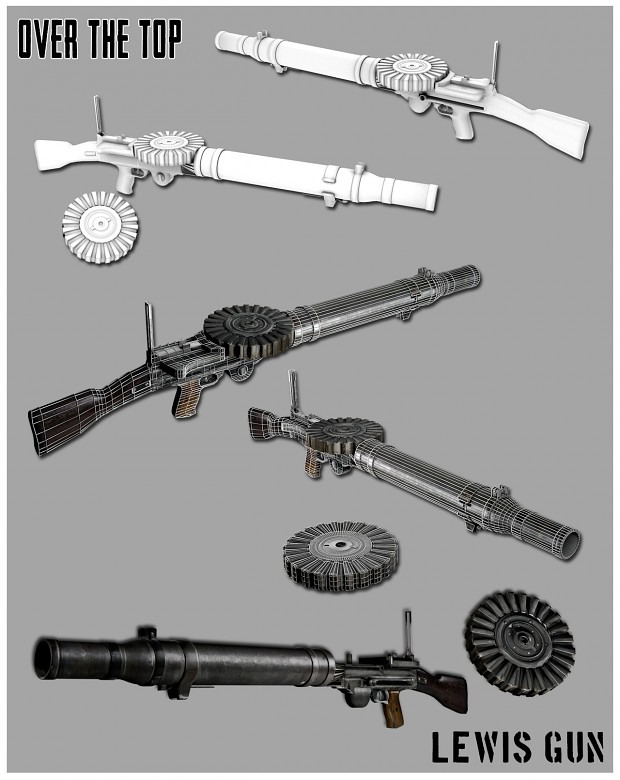 Lewis gun work in progress