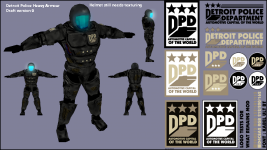 First Concept Draft of Heavy Detroit Patrol Armor