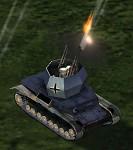 Flakpanzer IV Wirbelwind Firing