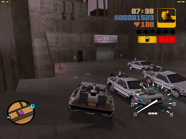 Fuel Light placement image - Back to the Future: Liberty City mod