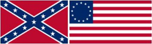Union and Confederate flag