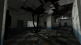 Destroyed hallway WIP