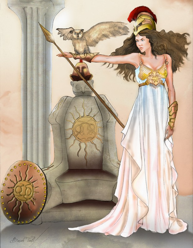 Athena - God of Wisdom and Strategy.