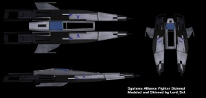 Systems Alliance Fighter Skinned