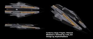 Cerberus Siege Frigate: Skinned