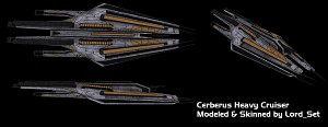 Cerberus Heavy Cruiser: Skinned
