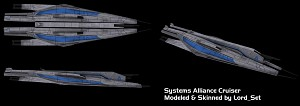 Systems Alliance Cruiser: Skinned V2