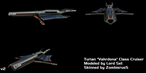 Turian Cruiser Skinned WIP