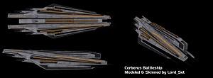 Cerberus Battleship: Skinned