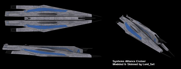 Systems Alliance Cruiser: Skinned