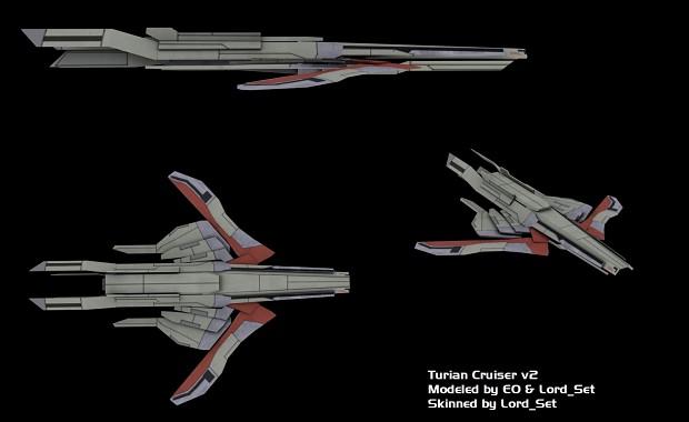 Turian Cruiser v2 skinned