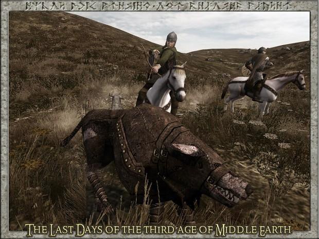 Rohirims hunting  wargs