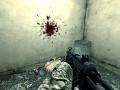 Headshot blood splattering