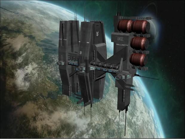 huge unsc space station-#48