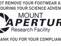 The Signs of Mount Aperture