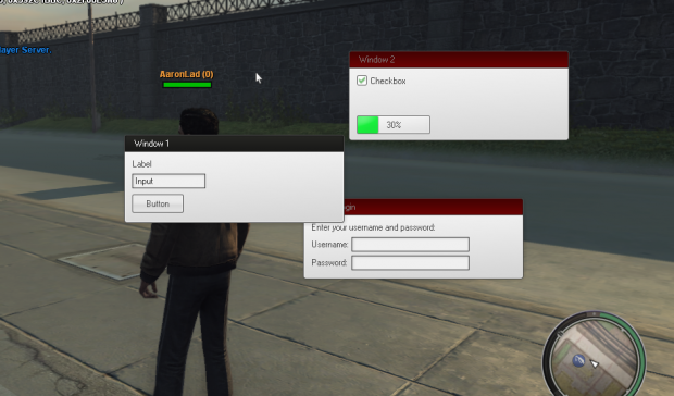 In-game gui rendering
