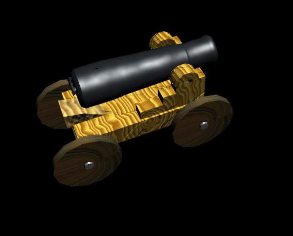 Untextured Cannon textured.. draft still