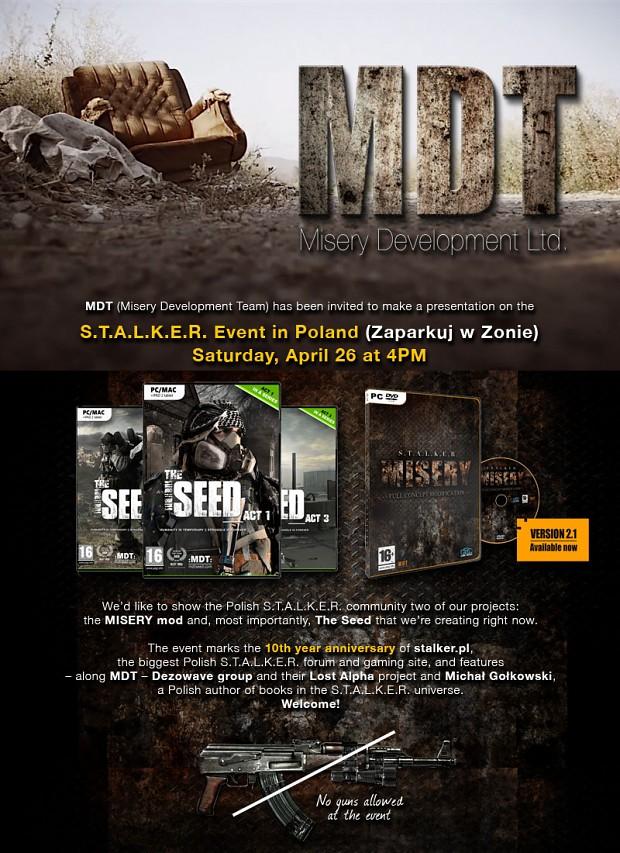 STALKER event April 26