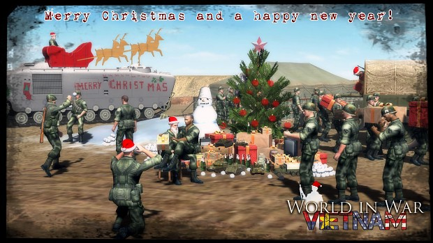 Merry Christmas And A Happy New Year Image World In War