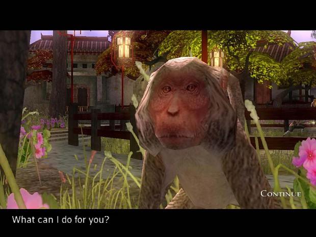 Talking to the monkey