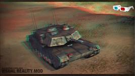 3D red-cyan Abrams Tank