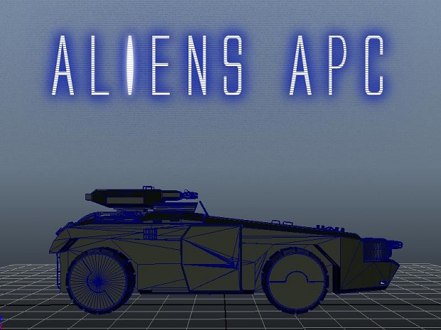 Aliens APC Model 87% Completed.