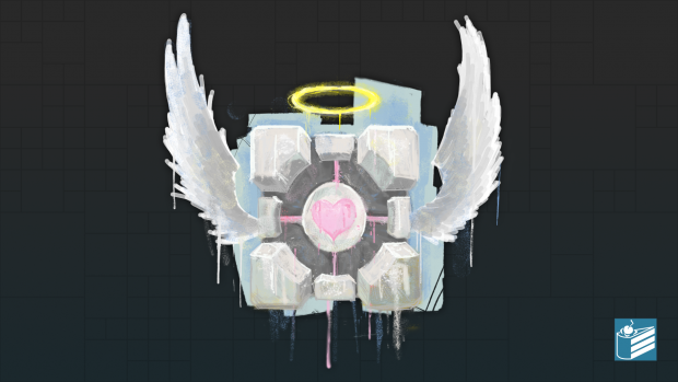 Companion Cube Wallpaper Image Alive Amp Kicking Mod For