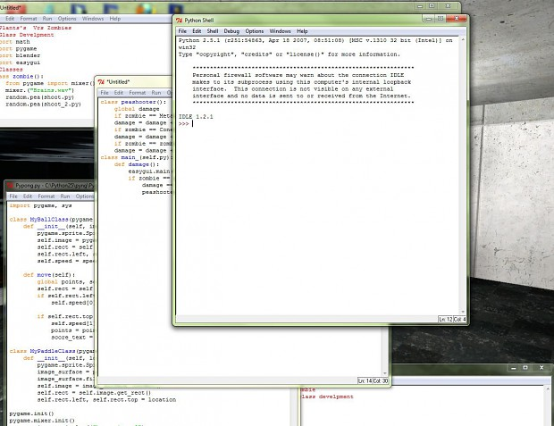 Programing so far