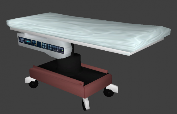 Hospital Bed - Textured