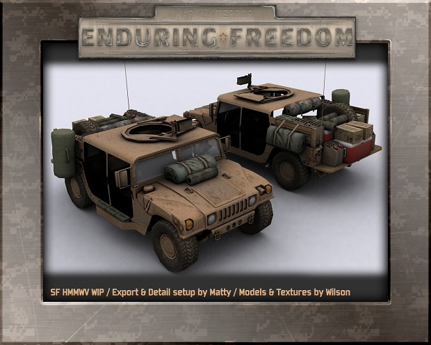 SF HMMWV WIP Export & Detail setup by Matty