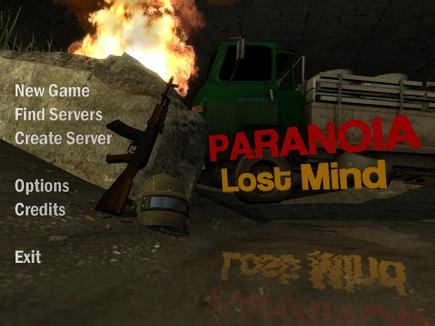 Paranoia Lost Mind - Beta menu