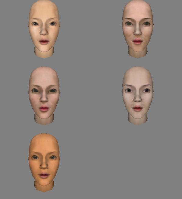 All 5 New Female Faces