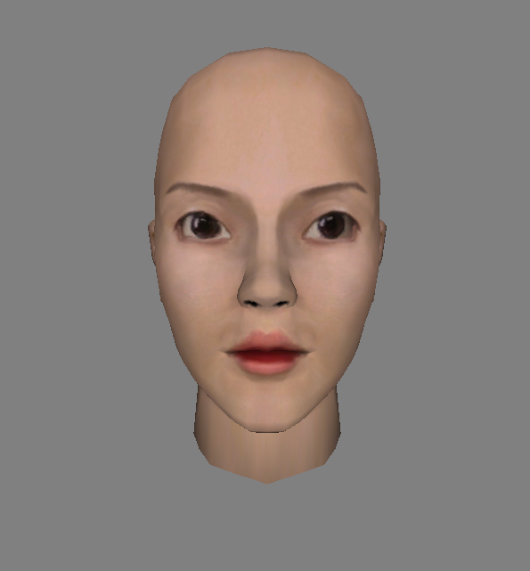 Changed Color of Midage Woman Face