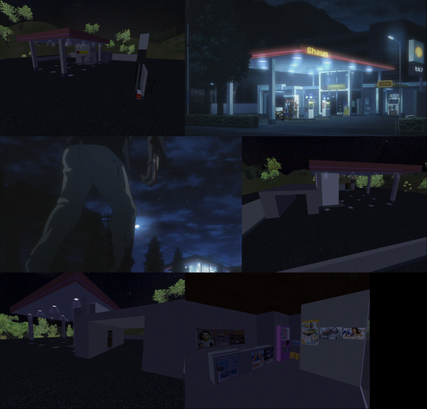 Gas Station at Night (Check it out)