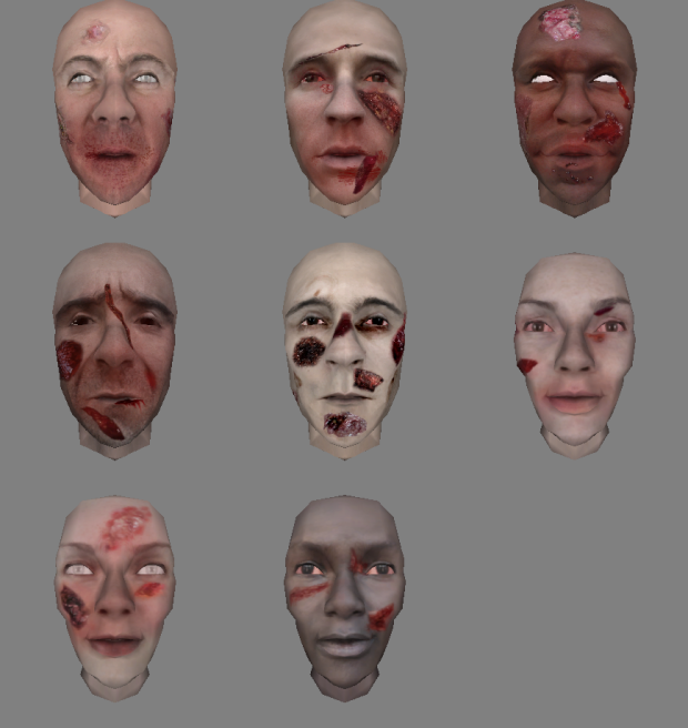 All zombie faces so far