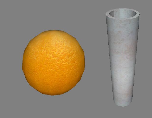 Orange and Straight Vase