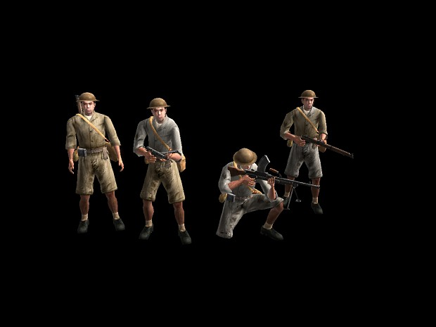 New British desert skins