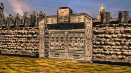 Mithlond stone walls - gate