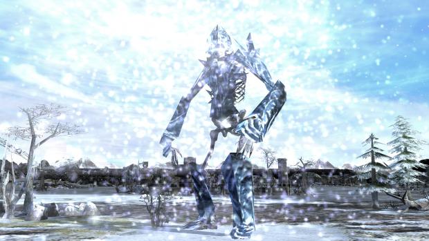 Ice skeleton
