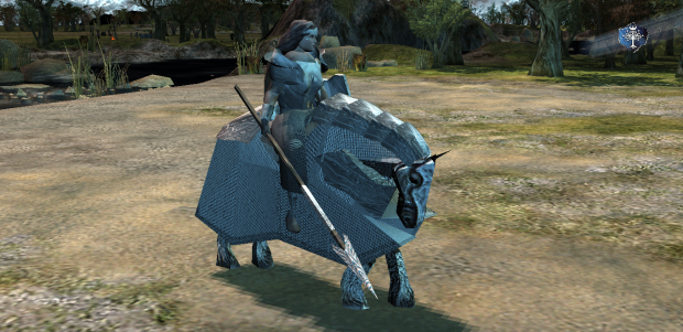 Mounted canoness