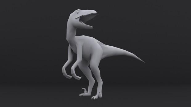 Raptor Model No Texture