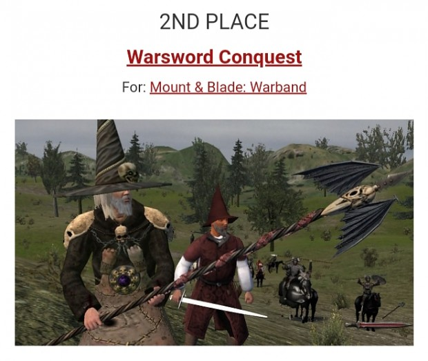 MOTY 2018 - WARSWORD CONQUEST got the 2nd Place