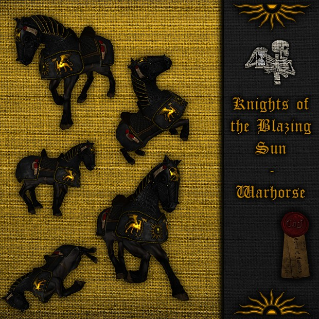 Blazing sun knight warhorse