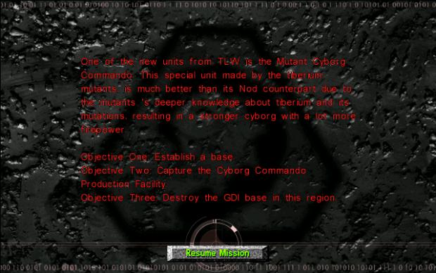 3rd Screenshots: Nod Mission 1 Mutant Cyborgs 01