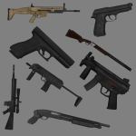 A large splash of some weapon models and textures