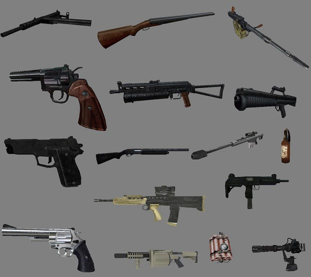 A Large Splash Of Some Weapon Models And Textures Image