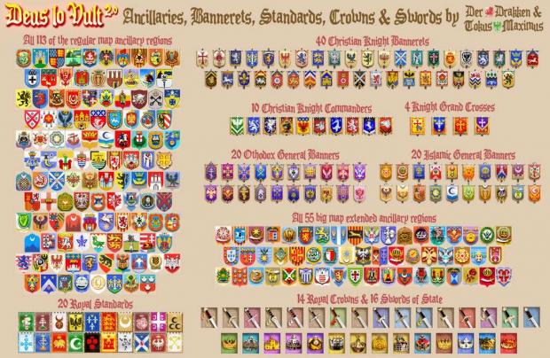 DLV ancillaries, bannerets, standards etc.