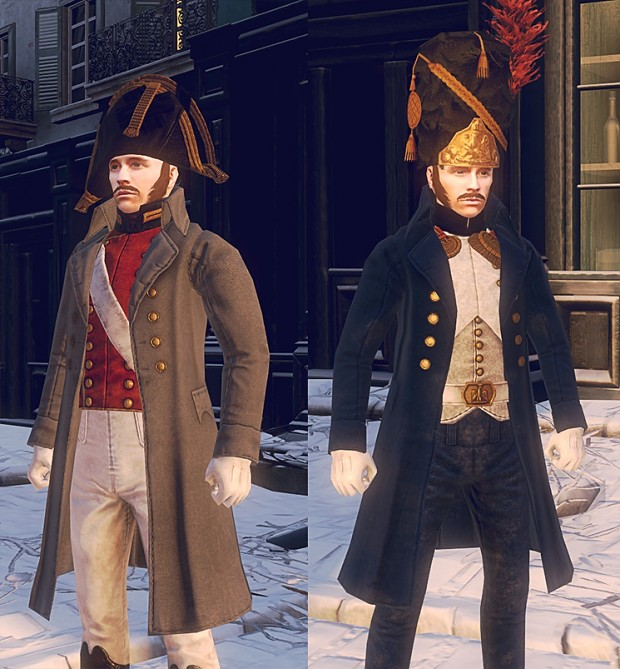 Greatcoats for officers.