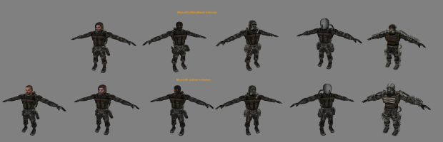 Monolith suit types.