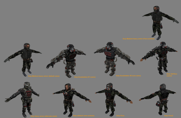 Work in progress, new suit variation for factions.